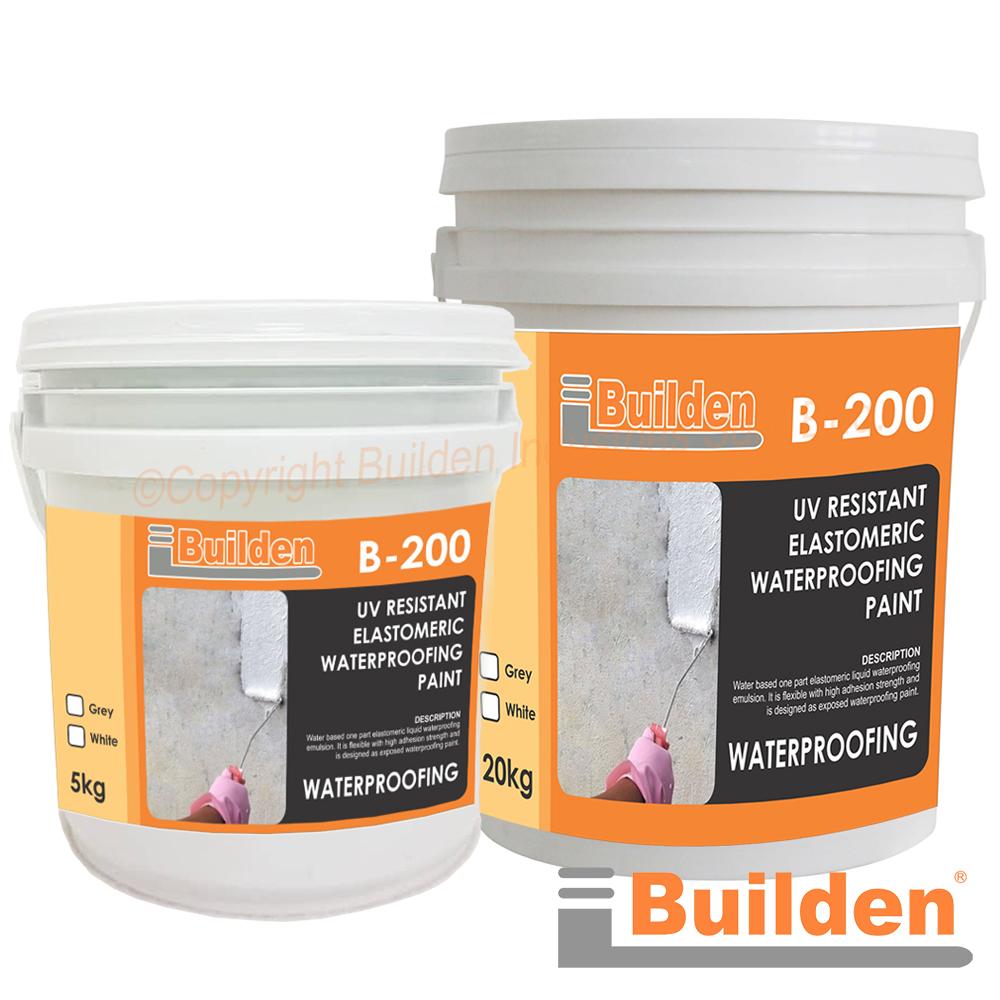 Builden B-200: UV Resistant Elastomeric Waterproofing Paint
