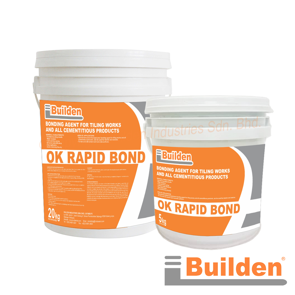 Builden OK Rapid Bond: Bonding Agent for Tiling Works and All Cementitious Products