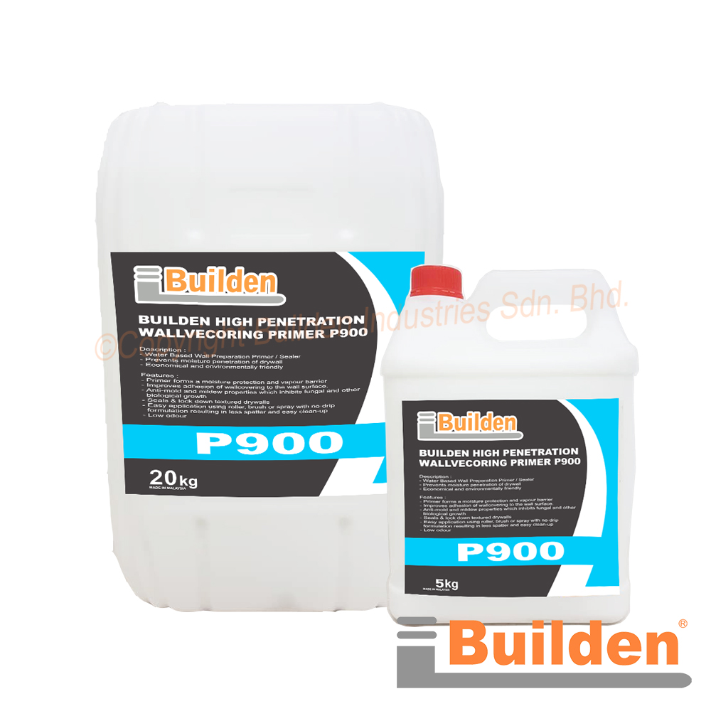 Builden P900: High Penetration Wall Covering Primer (Ready to Use Water Based Primer/Sealer to Penetrate Porous Surfaces)