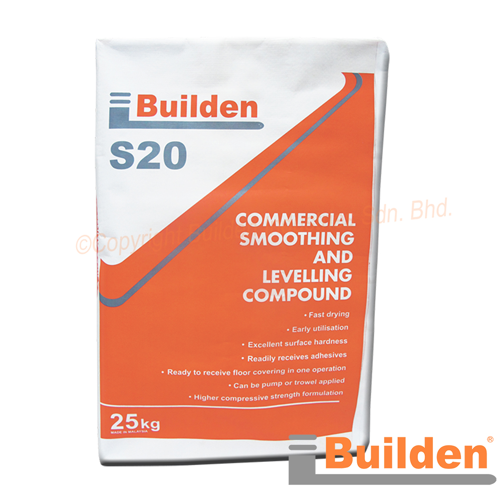 Builden S20: Commercial Smoothing and Levelling Compound