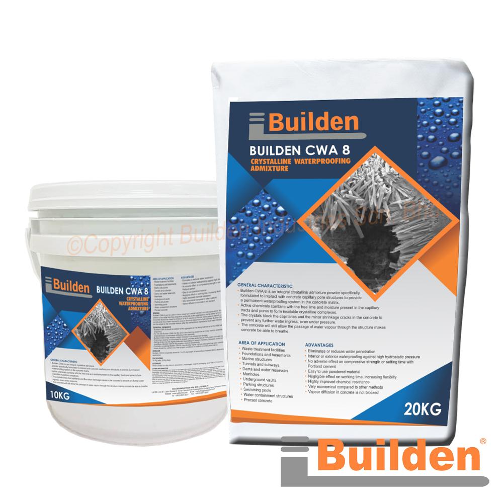 Builden CWA8: Crystalline Waterproofing Admixture