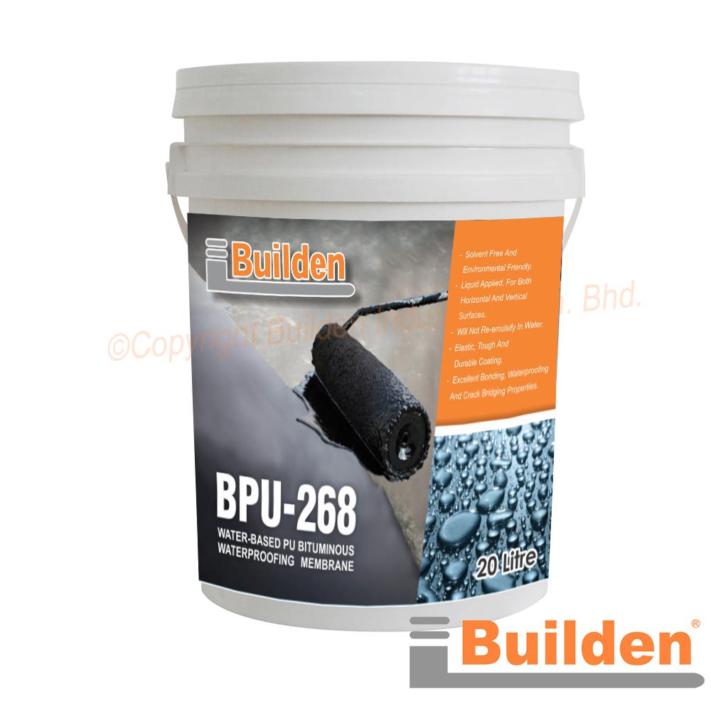 Builden BPU268: Water-Based PU Bituminous Waterproofing Membrane